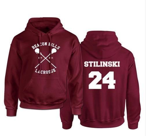 Photo of Teen Wolf Hoodie Men Stilinski 24 Lahey McCall Pullover Sweatshirt Male Print Red Hooded Mens Hoodies Hip Hop Hoddies Streetwear – 24 / S