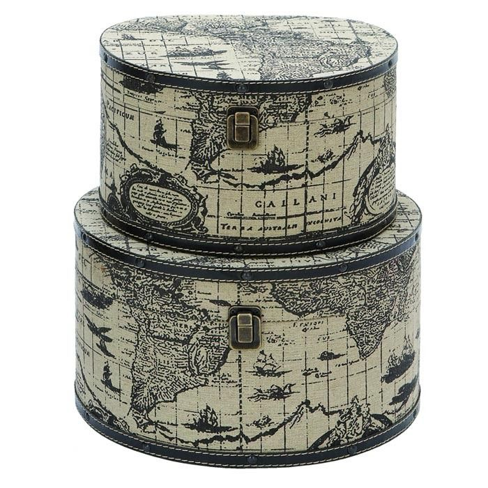 2 piece world map travel box set a globetrotters closet 2 piece world map travel box set gumiabroncs Image collections