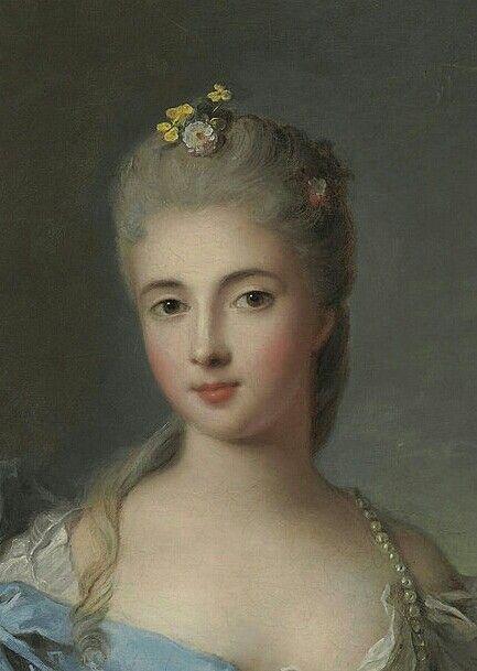 Portrait D Une Dame Precedemment Identifiee Comme Etant La Duchesse De La Rochefoucauld 1750 Jean Marc Nattier Detai Portraiture Miniature Portraits Portrait