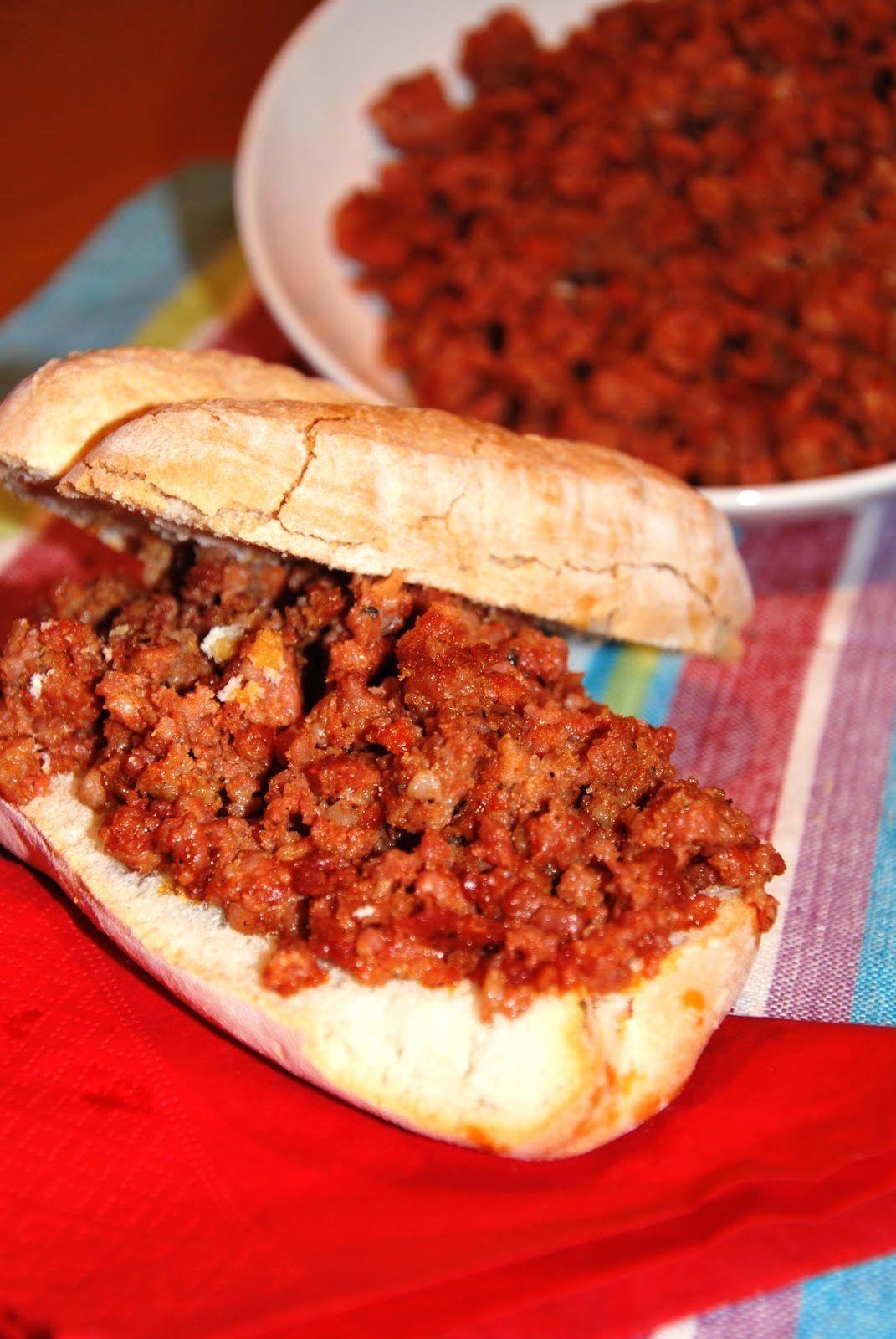 Bocata De Picadillo De Chorizo Comida Tapas Montaditos Recetas Para Cocinar