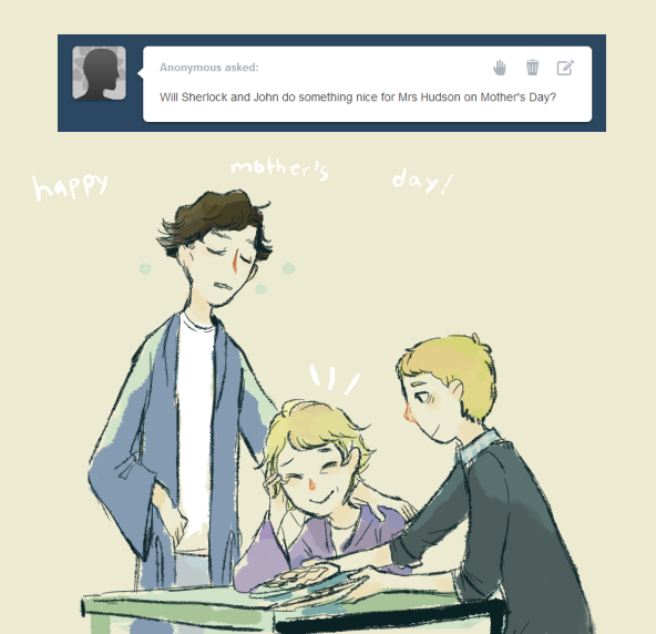 a ask bbc sherlock thing AWWW this is adorabeautiful