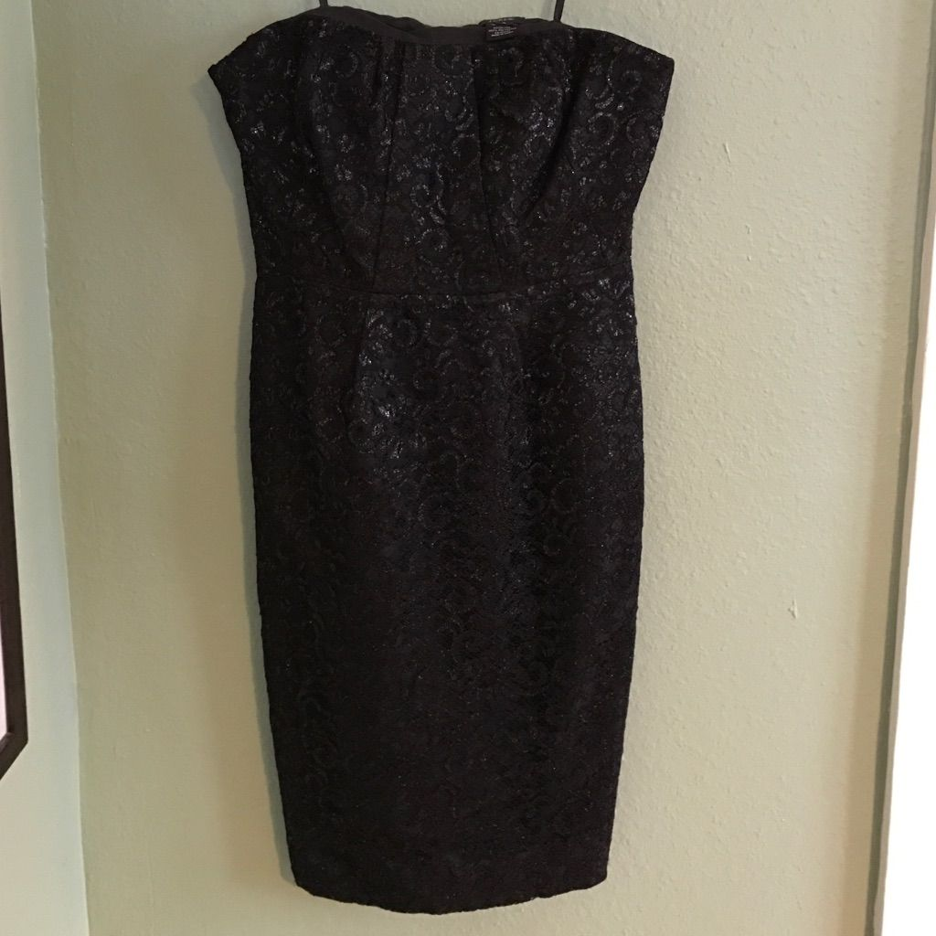 Jcrew black sparkly strapless dresss products