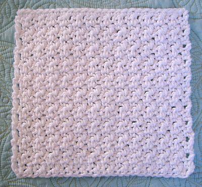 Free Crochet Patten: Super Simple Dishcloth | Crochet | Pinterest ...