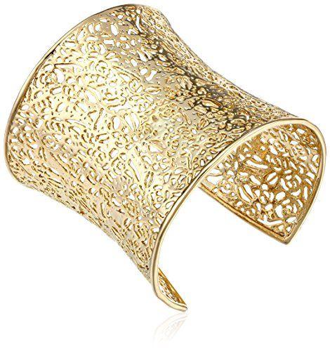 """Kendra Scott """"Filagree"""" 14k Gold-Plated Cuff Bracelet"""