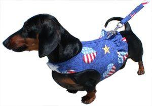 Custom made dachshund harnesses