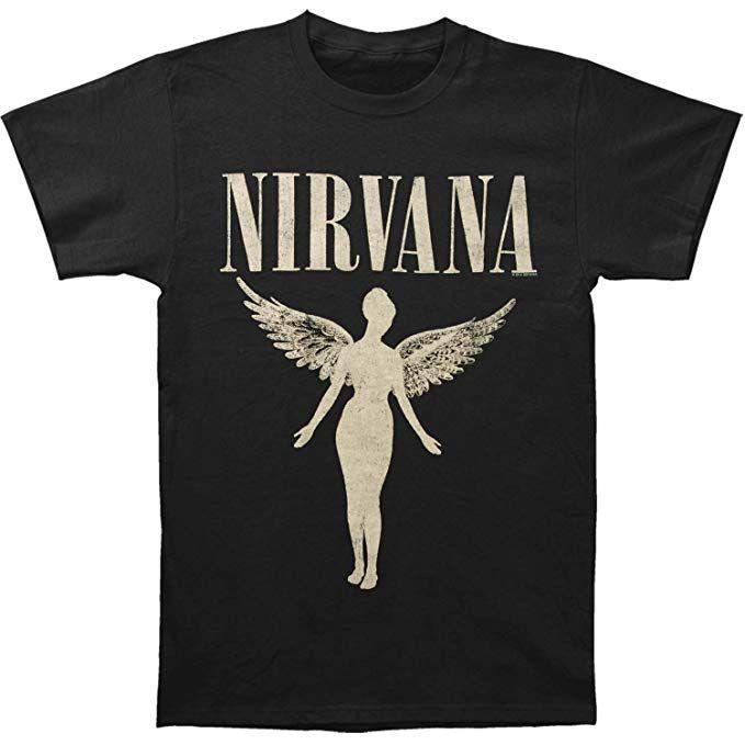 ab22fc8f6 Nirvana Men's In Utero Tour Slim Fit T-shirt Small Black | Concert ...