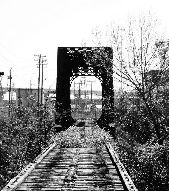 Through Truss Railroad Bridge Buffalo Bayou Downtown Houston Texas 0319091038bw Houston Photography Downtown Houston Houston History