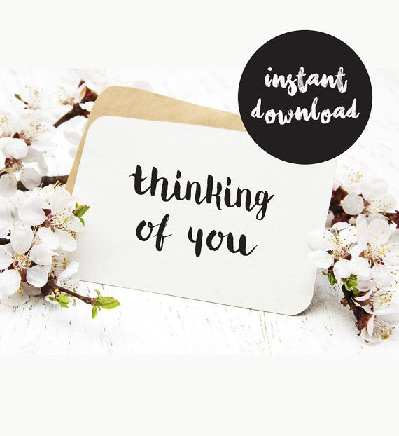 Thinking of you card printable sympathy card by MonochromeYourHome