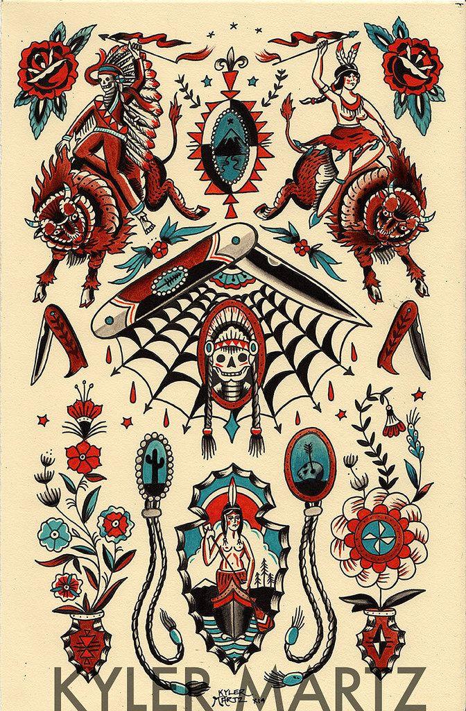 Kyler Martz Old school tattoo designs, Traditional