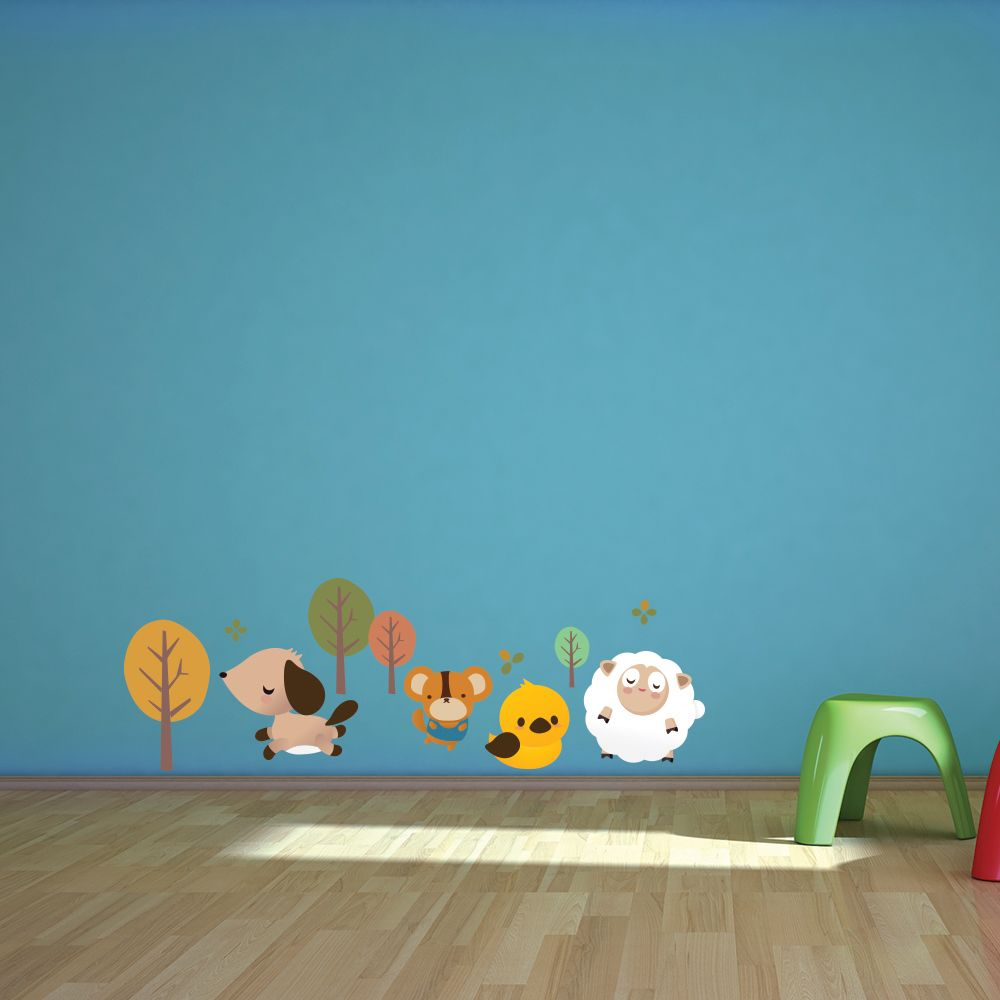 Autumn Hang Out Wall Sticker By Little Sticker Boy For The Home