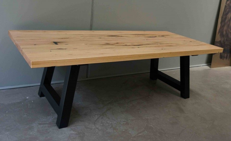 Recycled Timber Solid Dining Table H Frame The Block Shop