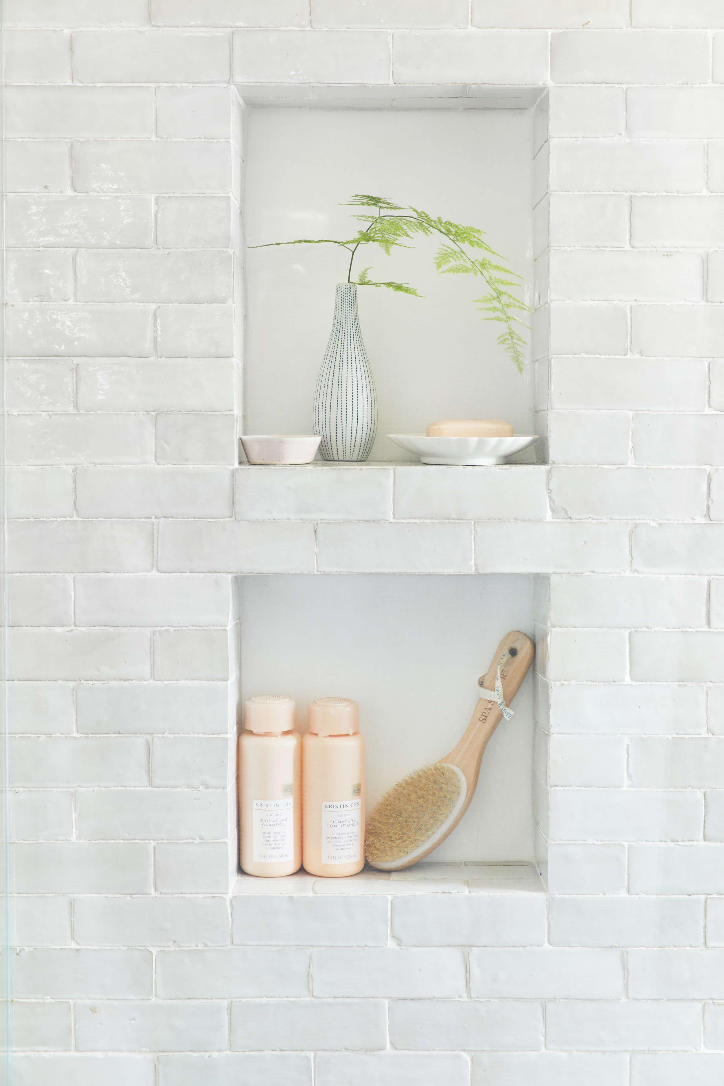Weathered White Zellige 2 X6 X3 4 Subway Modern Master Bathroom Restroom Remodel Bathroom Interior Design