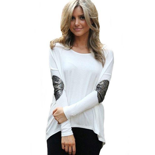 Blusas 2017 New Autumn Women Patchwork Jumper Blouse Long Sleeve Cotton Tunic Shirt Tops Women Loose Casual Stretch Shirts Tops