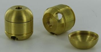 $15 - 3-LITE X 1/8F - 45 DEGREE X 1/4F BOTTOM 1/8F TOP LARGE CLUSTER BODY TURNED BRASS