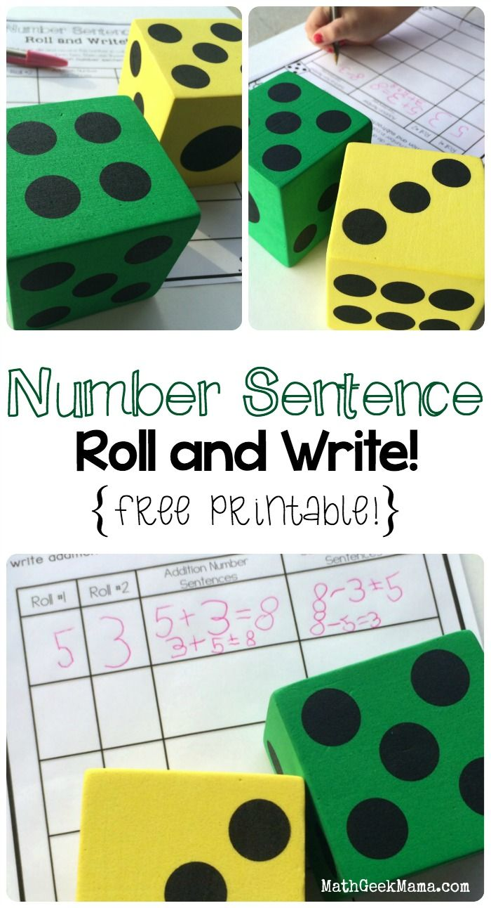Writing Addition And Subtraction Number Sentences Math For Kids Math Games For Kids Math Centers Adding numbers games for kindergarten