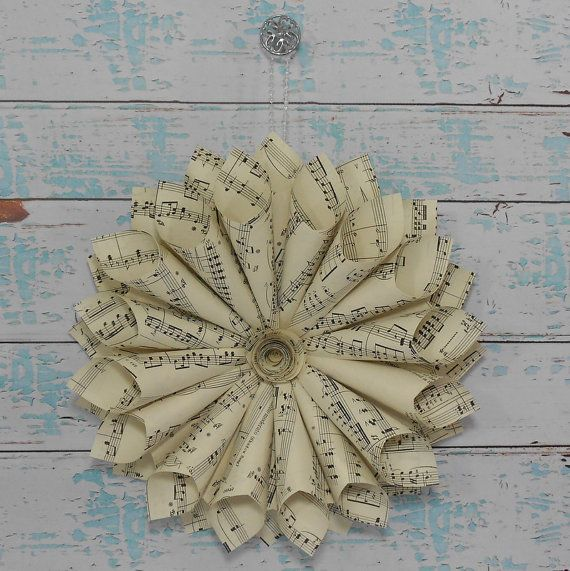 Sheet Music Wreath  Vintage Paper Music Wreath  by LucyBirdy, $25.00