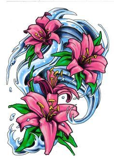 Water Tattoo Sleeve Water Lily Tattoo Japanese Wave Tattoo Water Lily Tattoos Lily Tattoo Japanese Flower Tattoo
