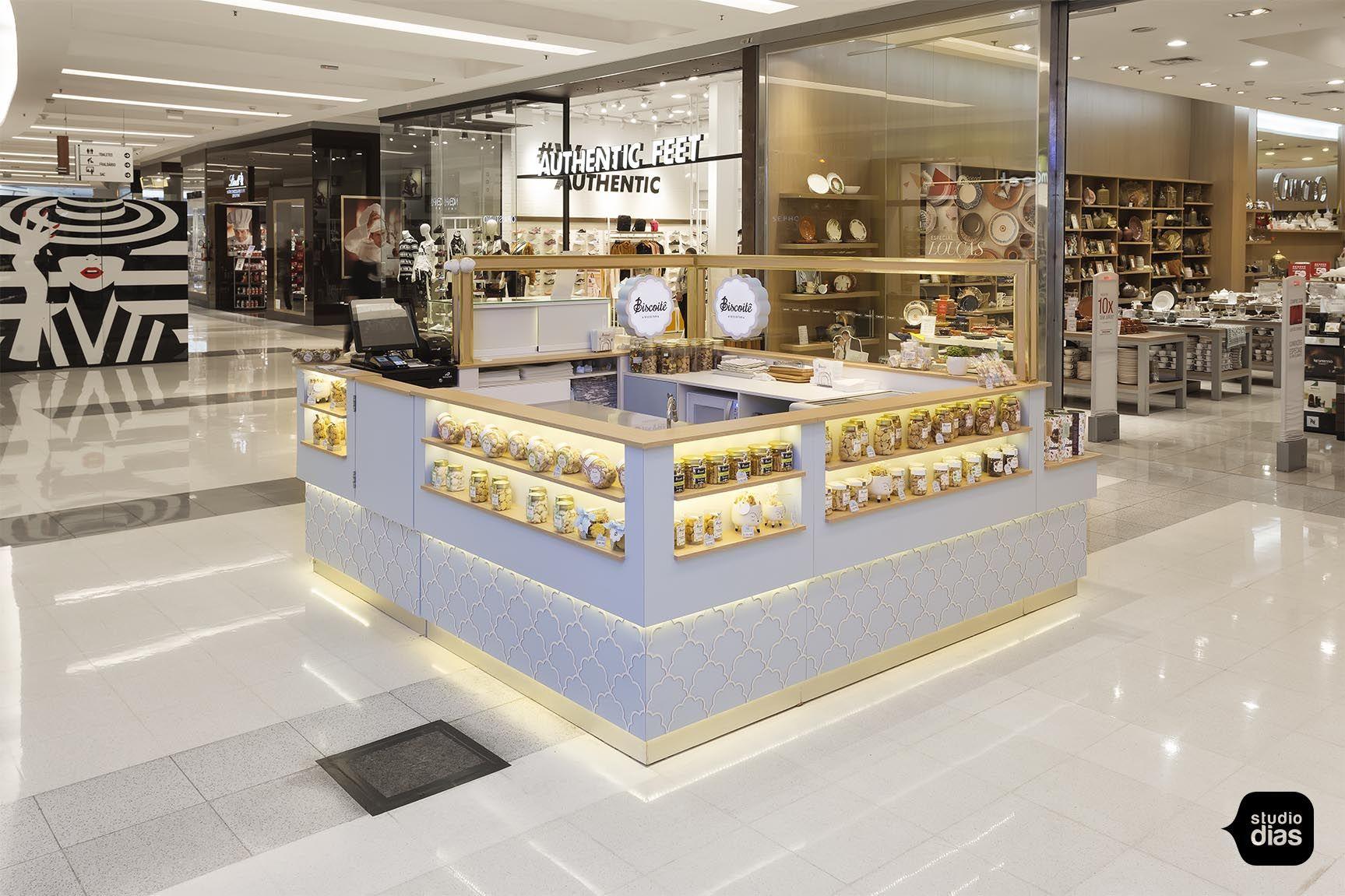 Biscoitê Quiosque Para Shopping Studio Dias Quiosque Shopping Exposição De Produtos