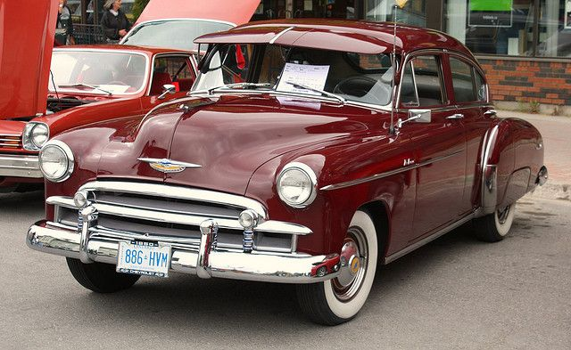 1950 Chevrolet Fleetline Deluxe 4 Door Car Chevrolet Old Cars Chevrolet