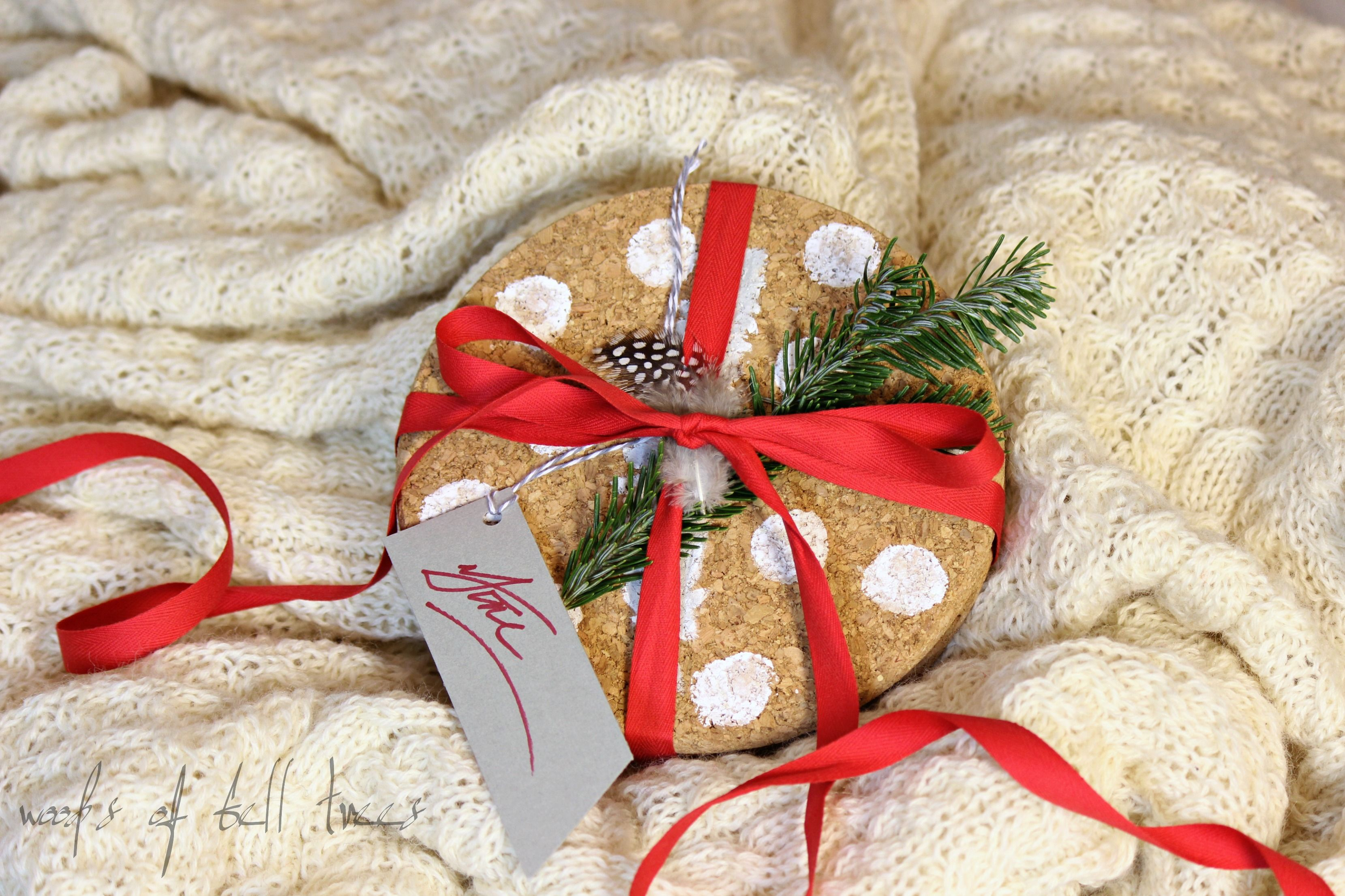 A quick and simple craft perfect for gift giving painted cork