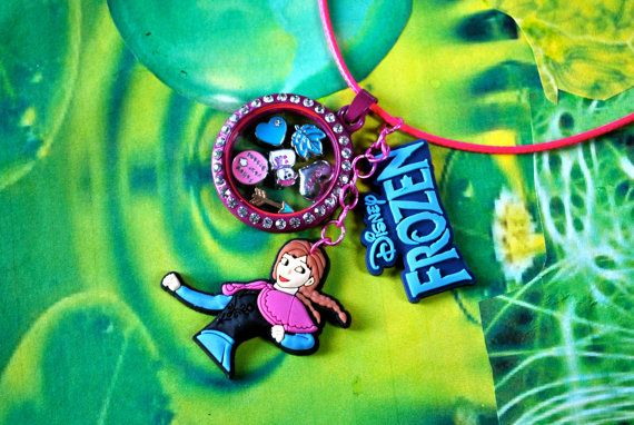 Princess Anna Inspired Frozen Living Charm Locket, Jewellery, Kawaii, Disney Cosplay,, Lolita, Floating Charm Lockets