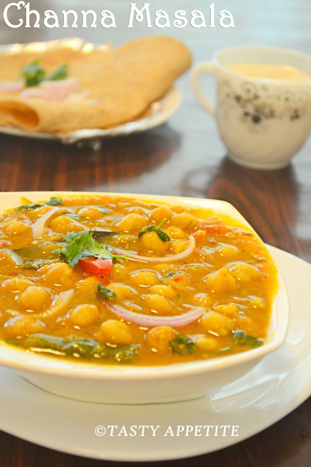 PUNJABI CHOLE MASALA RECIPE / CHANA MASALA RECIPE / PUNJABI CHOLE / CHICK PEA GRAVY | Tasty Appetite