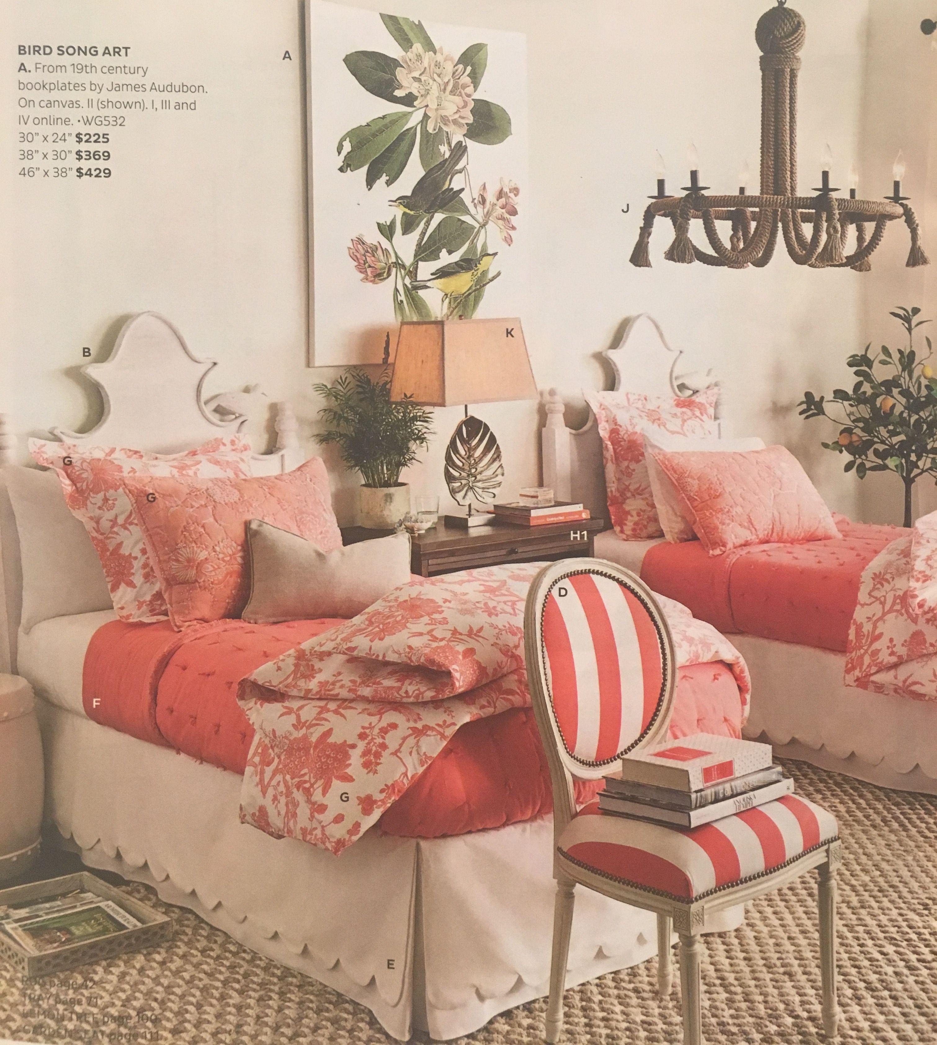 Jardin Toile Bedding | Twin beds guest room, Bedroom ...