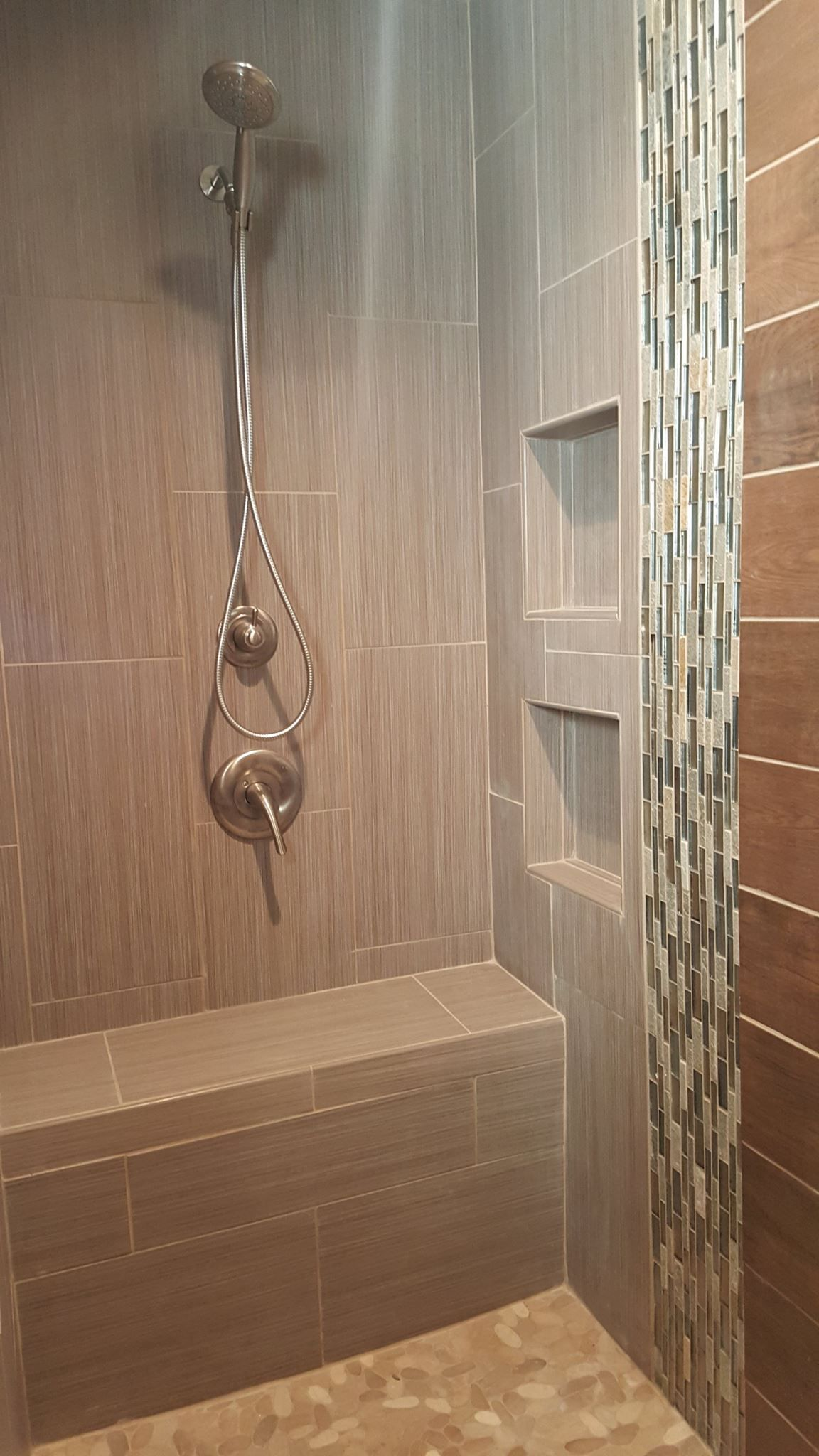 Custom Tile Shower Pan