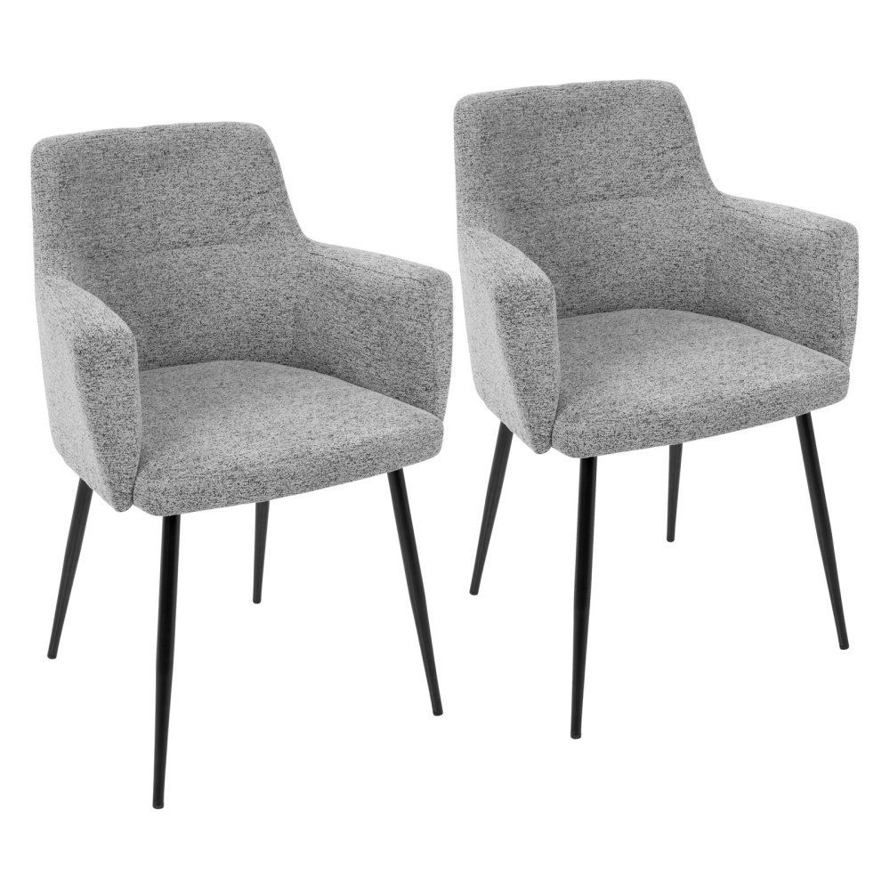 Lumisource Andrew Contemporary Fabric Dining Chair Set Of 2