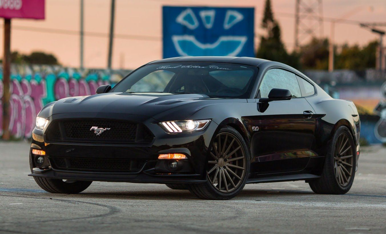 2015 ford mustang gt 50 on vossen wheels