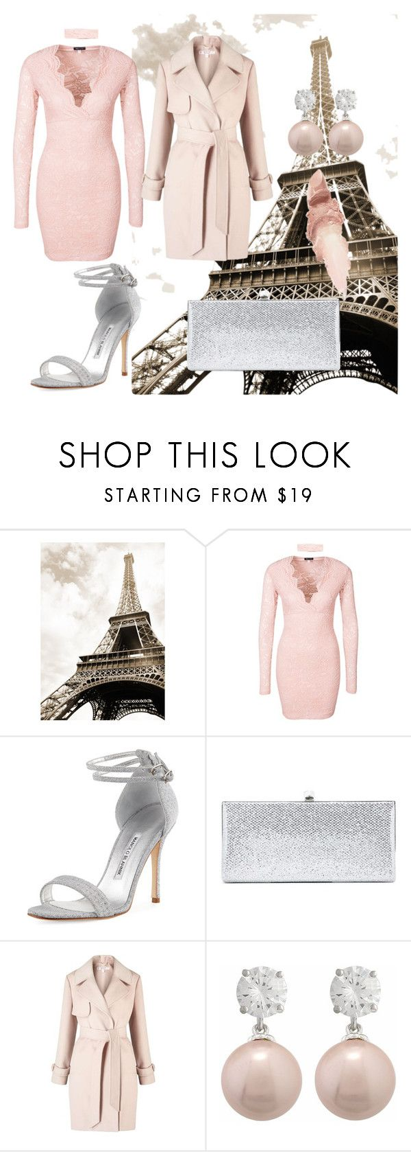 """""""Paris"""" by amila677 ❤ liked on Polyvore featuring Manolo Blahnik, Jimmy Choo, Miss Selfridge, Jankuo and Maybelline"""