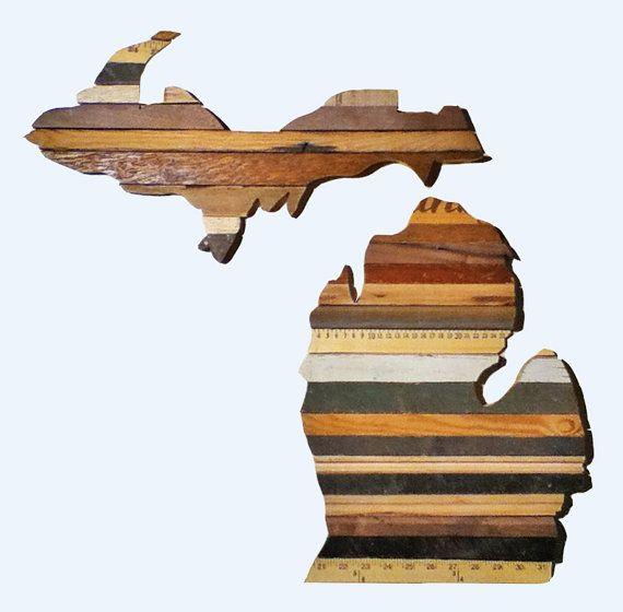 - Reclaimed Wood Art - The Mitten State - Michigan
