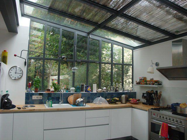 Cuisine verri re donnant sur jardin extension la maison s 39 agrandit en 2019 cuisine verriere - Extension cuisine sur jardin ...