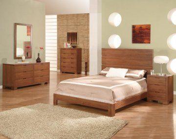 walnut bedroom set. 4 PC Thames Walnut Platform Bedroom Furniture Set by FX  FREE Shipping