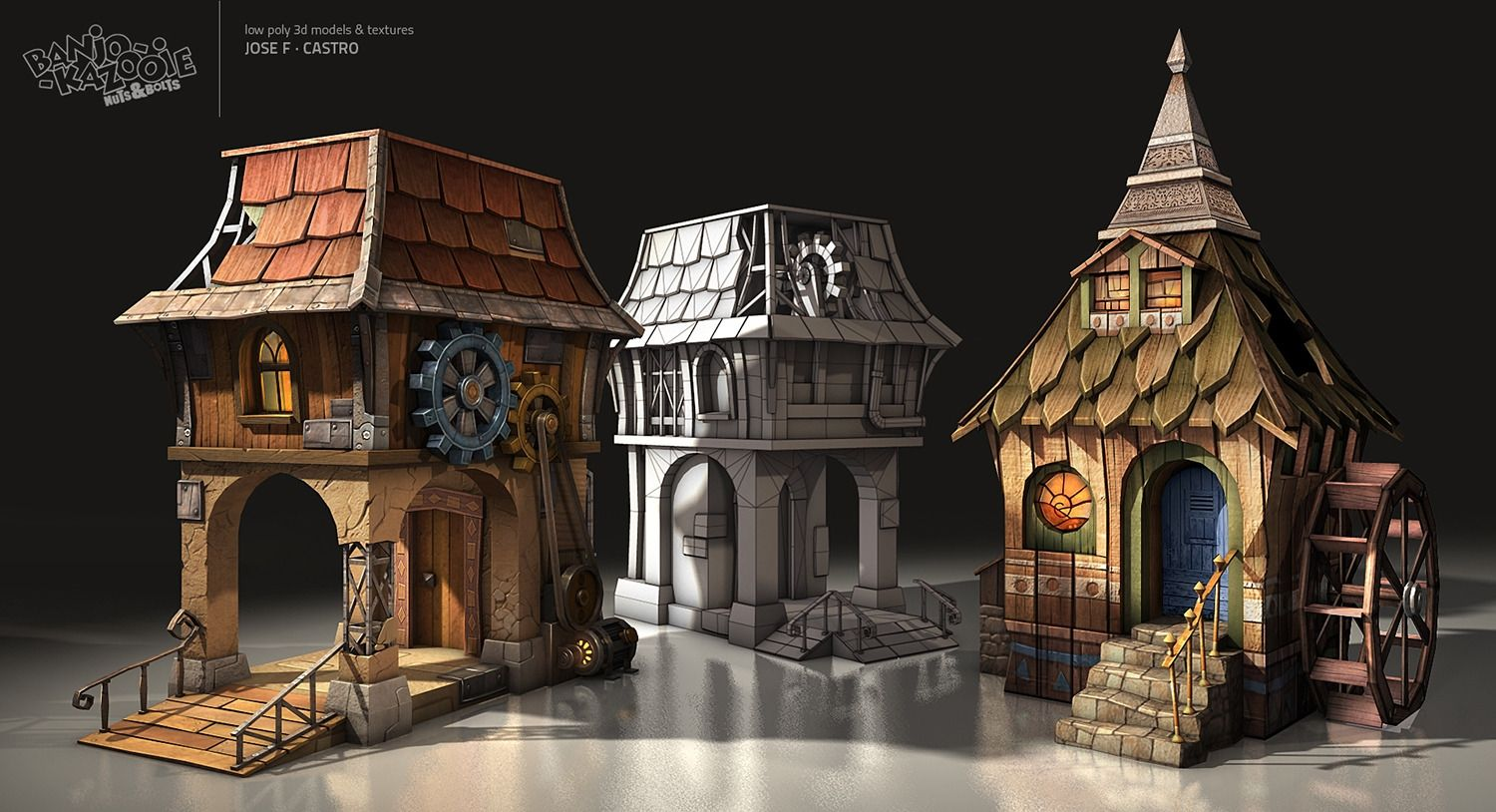 Banjo Kazooie Nuts & Bolts Houses Picture (3d, fantasy