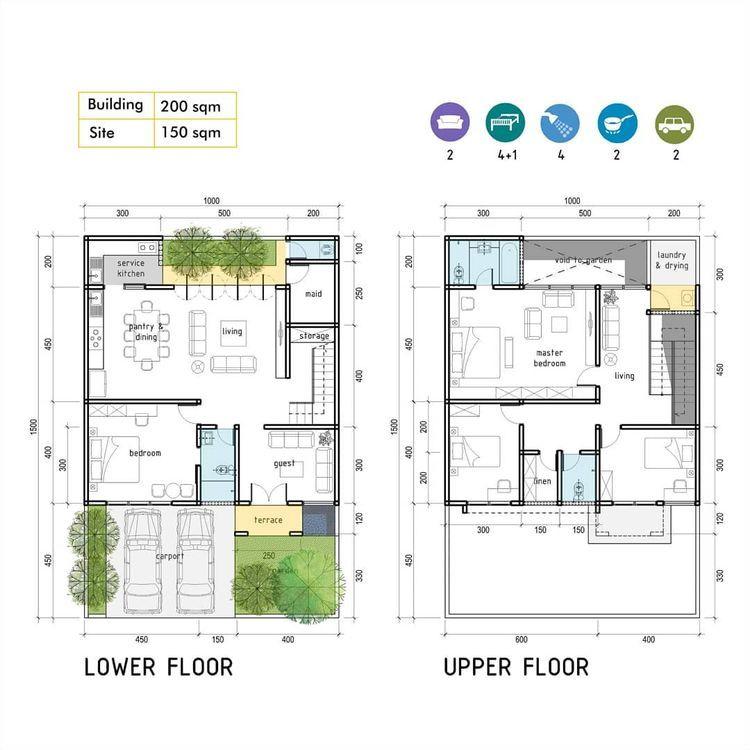 Idedenahrumah On Instagram Rumah 5 Kt Di Lahan 10x15 Denah Rumah Rumah Rumah Indah