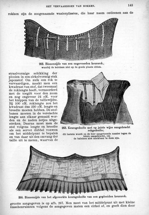 Costume Diaries: Edwardian Corset skirt | Edwardiaanse keursrokken ...