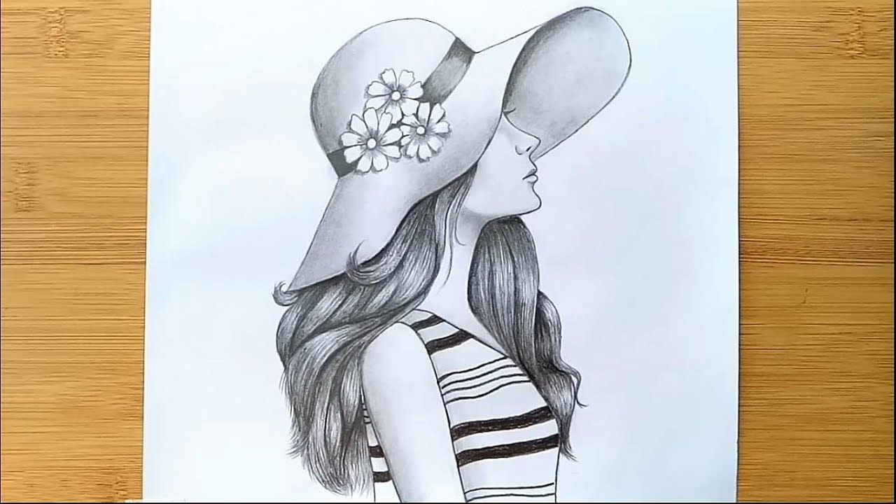 How to Draw a Girl with Hat for BEGINNERS - step by step ...