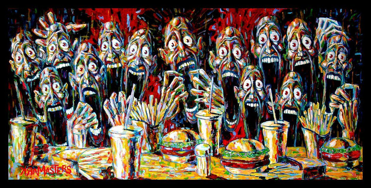 The Last Supper By Mark Masters On Deviantart Last Supper Modern Art Paintings Last Supper Art