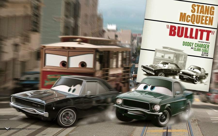 "Pixar interpretation of ""Bullitt"""