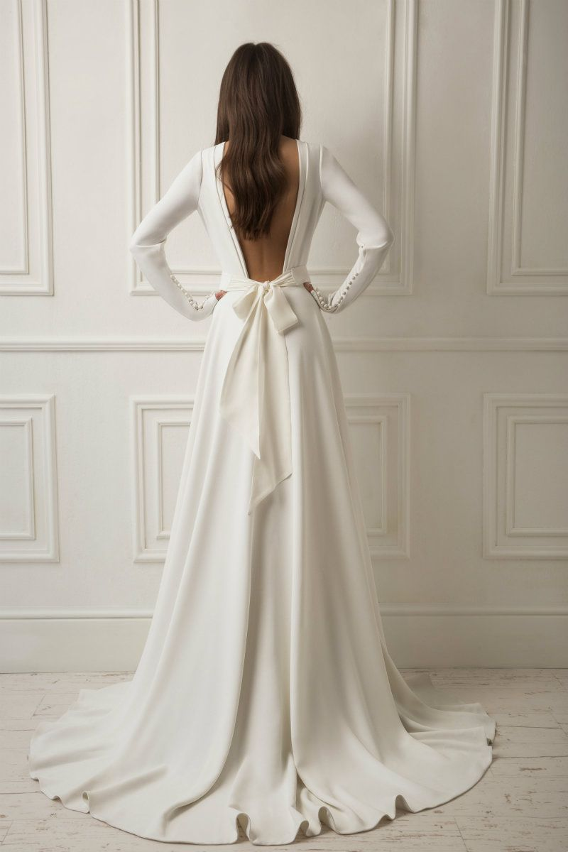 Wedding dress with bow on back  Lihi Hod  Dreams Wedding Dresses  Wedding  Pinterest  Dream