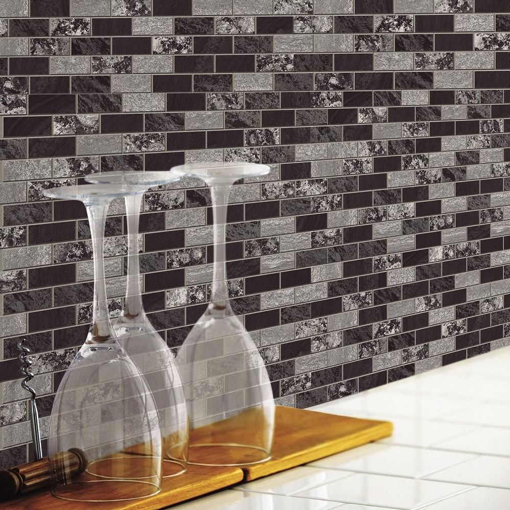 traditional marble sticktiles peel stick backsplashes - Peel And Stick Backsplash Tile Property
