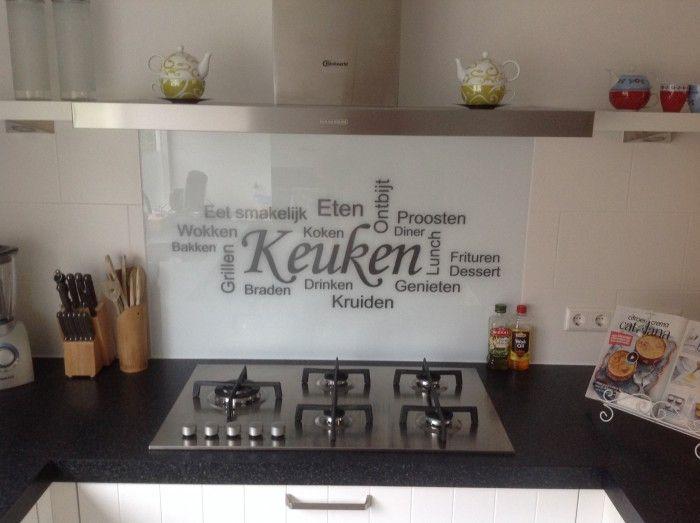 Achterwand keuken digtotaal - Credence keuken wit ...