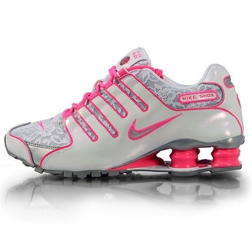 Women Nike Shox NZ White   Metallic Silver   Pink Flesh LACE 311137 ... 922e89c10