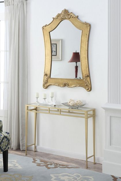 Convenience Concepts Gold Coast Victorian Gold Frame Mirror in ...