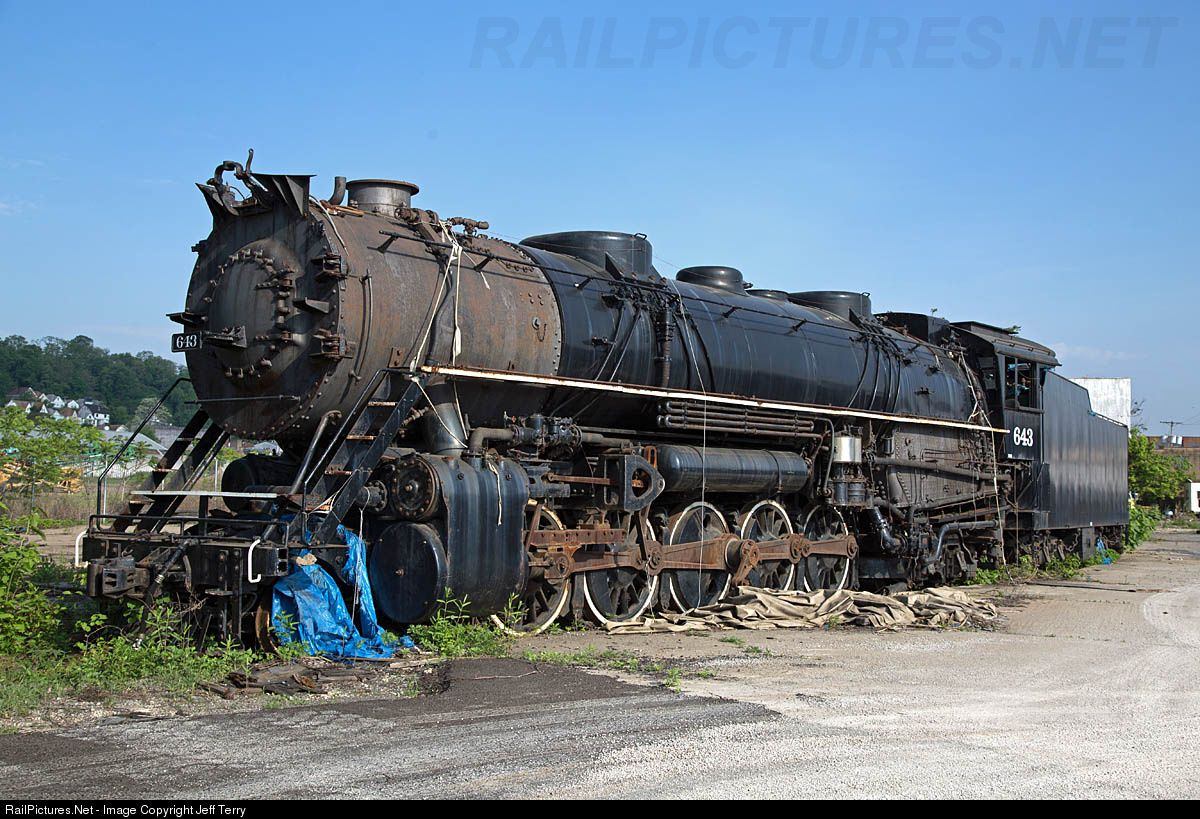 Ble 643 Bessemer Lake Erie Railroad Steam 2 10 4 At Pittsburgh Pennsylvania By Jeff Terry Bessemer Lake Erie Erie