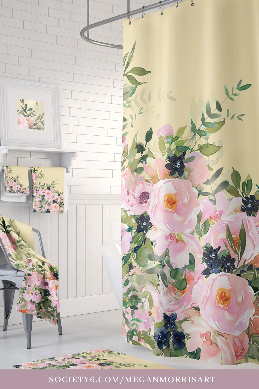 Shower Curtain Ideas Bathroom Decor Cute Spring Floral Shower