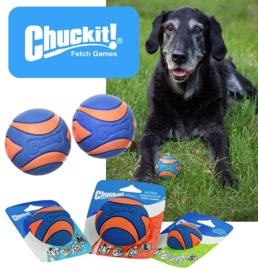 Details About Chuckit Ultra Squeaker Ball Tough Dog Puppy Rubber