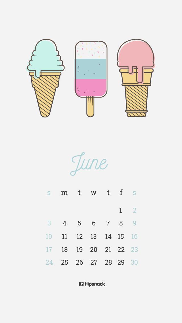 June 2018 Wallpaper Calendar For Desktop Smartphone Freebies
