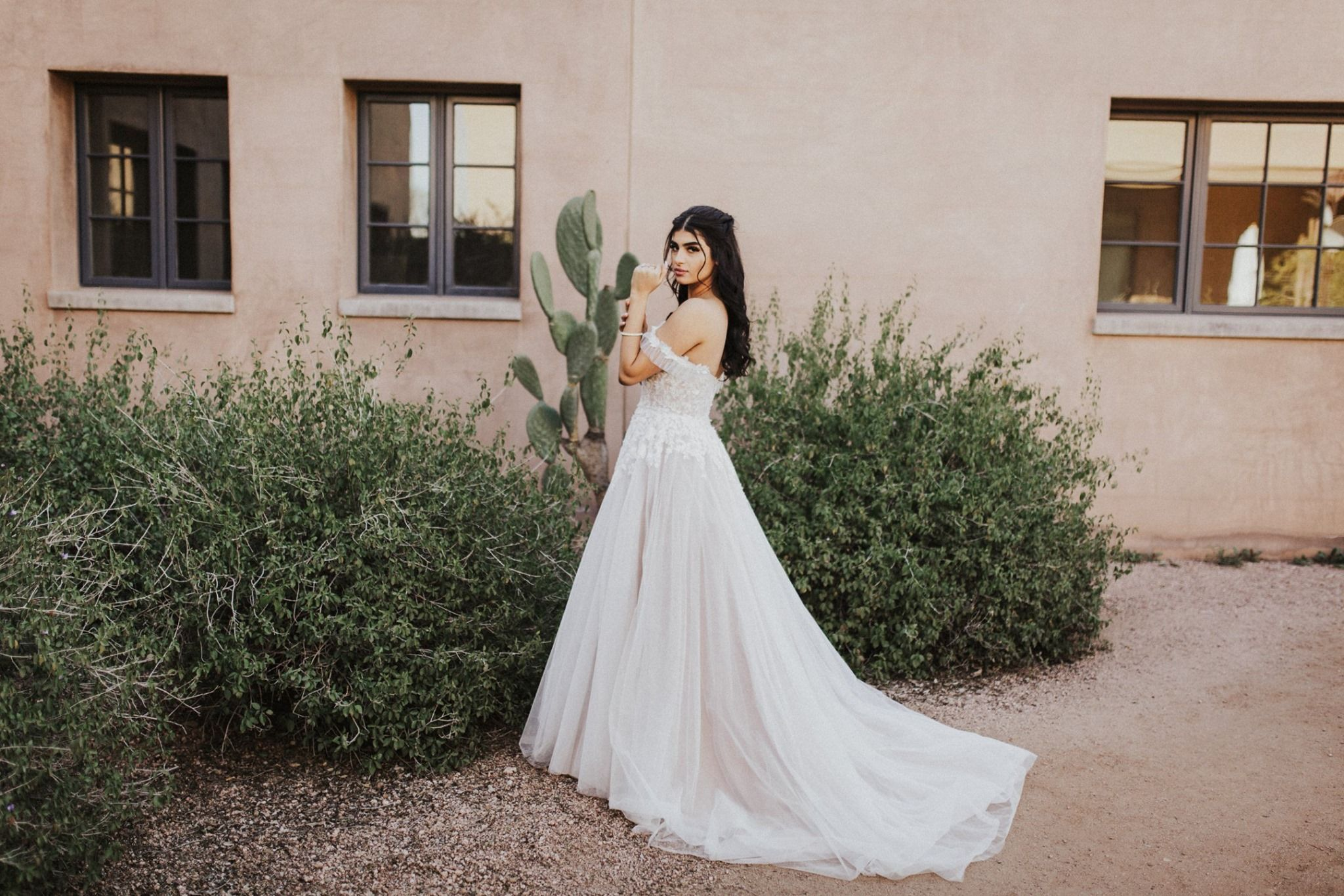 Desert Botanical Gardens Southwestern Bride Phoenix
